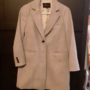 Grey banana republic coat